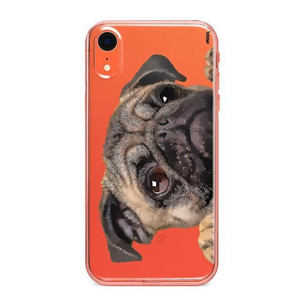Cry Baby Pug - iPhone XR Clear Case