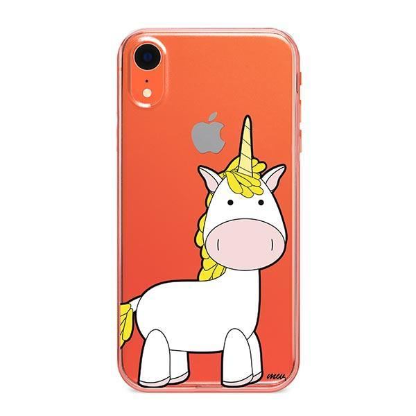 huge discount 1c56f a39f5 Cute Unicorn iPhone XR Case Clear