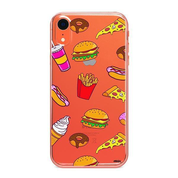 Fast Food iPhone XR Case Clear