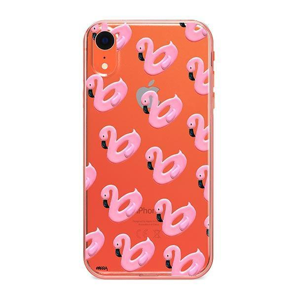 Flamingo Floaties iPhone XR Case Clear