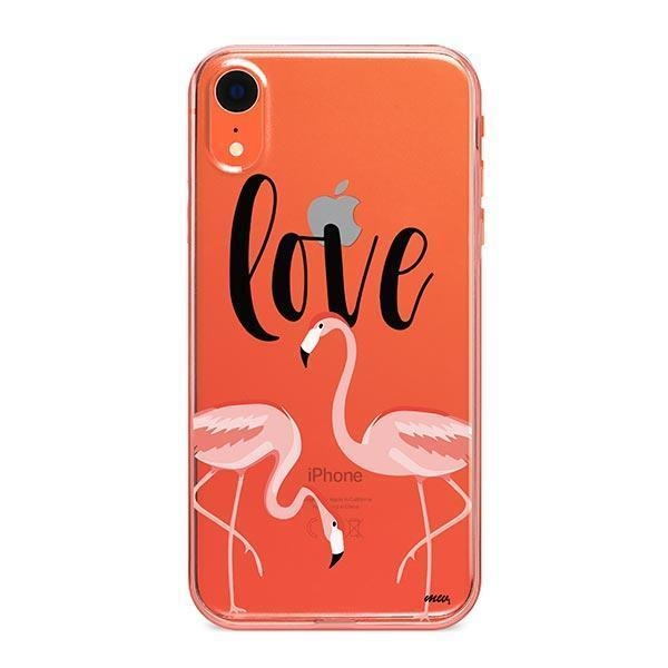 Flaming Love iPhone XR Case Clear