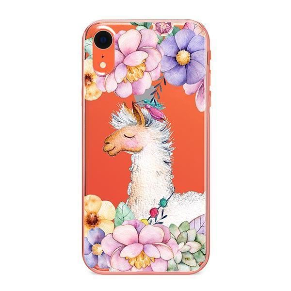 buy popular 263fa 766b6 Floral Llama iPhone XR Case Clear