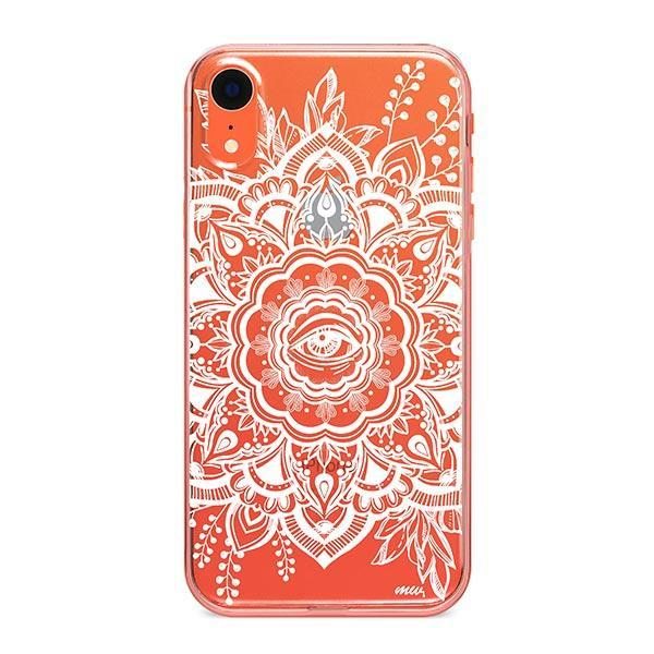 Henna Floral Eye iPhone XR Case Clear