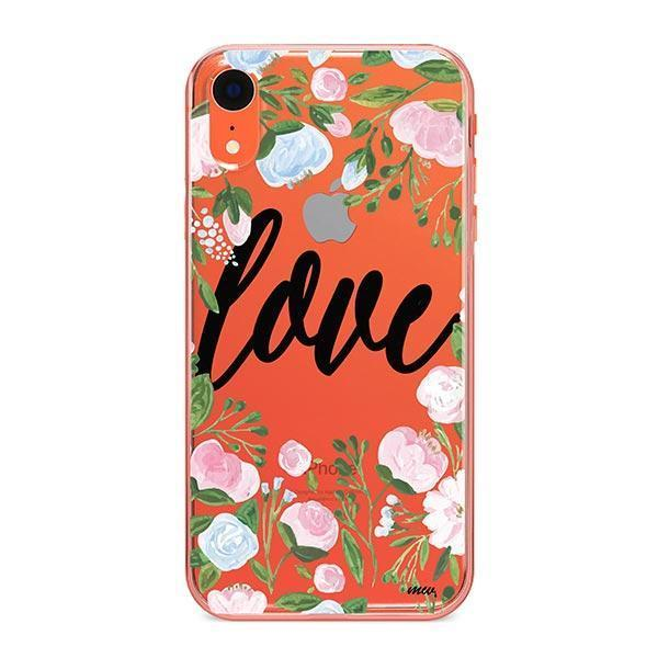 Floral Love iPhone XR Case Clear