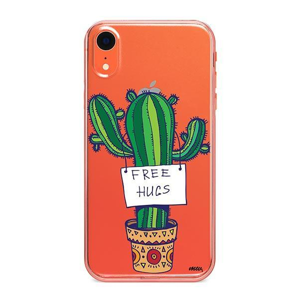 Free Hugs iPhone XR Case Clear