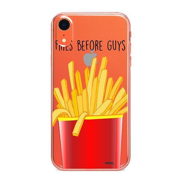 Fries Before Guys iPhone XR Case Clear