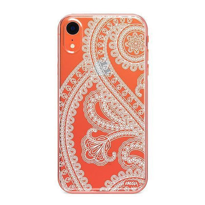 Henna Full Paisley - Clear TPU - iPhone Case