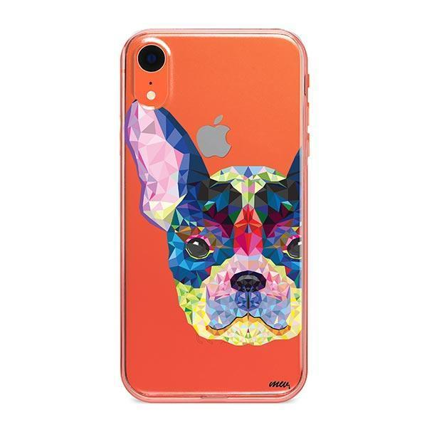 Geometric Frenchie - iPhone XR Clear Case