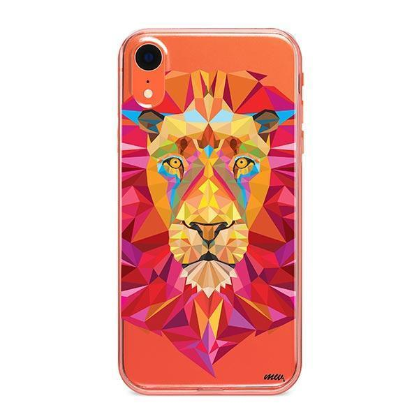 Geometric Lion - iPhone XR Case Clear