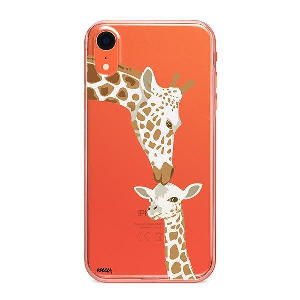 Giraffe Love - iPhone XR Case Clear