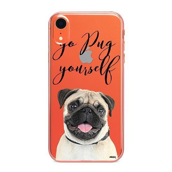 Go Pug Yourself - iPhone XR Clear Case