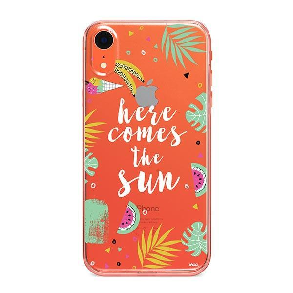 Here Comes The Sun iPhone XR Case Clear