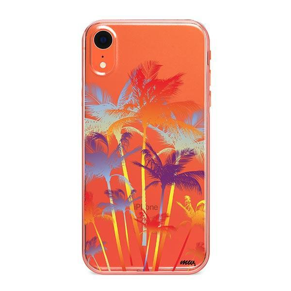 Hipster Palm Tree iPhone XR Case Clear