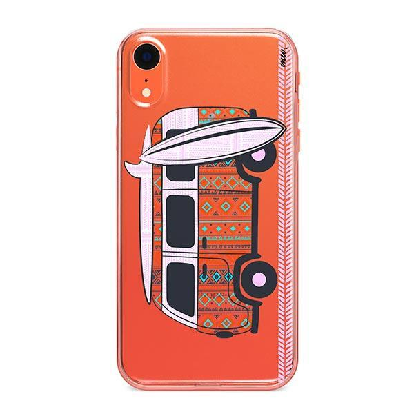 Hipster Van iPhone XR Case Clear