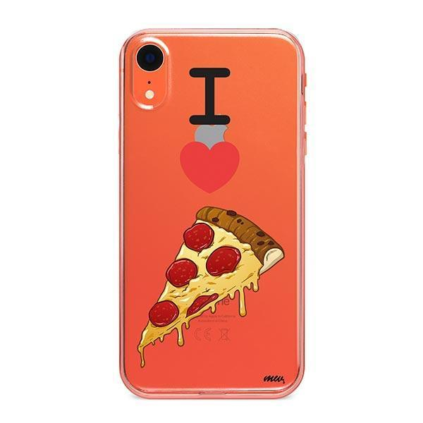I Love Pizza iPhone XR Case Clear