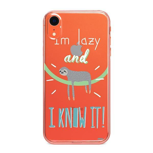 I'm Lazy and I know it iPhone XR Case Clear