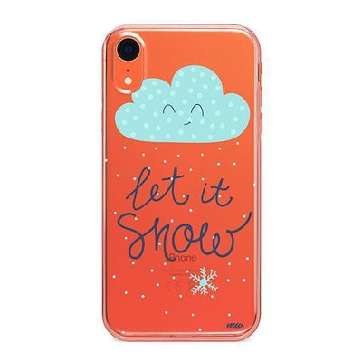 Let It Snow - Clear TPU - iPhone Case