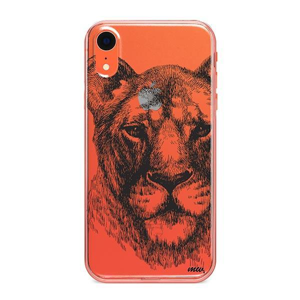 Lioness - iPhone XR Case Clear