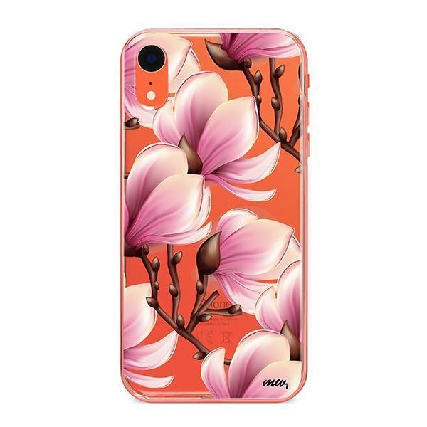 Magnolia iPhone XR Case Clear