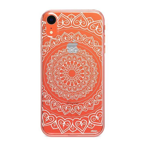 Mandala Hearts iPhone XR Case Clear
