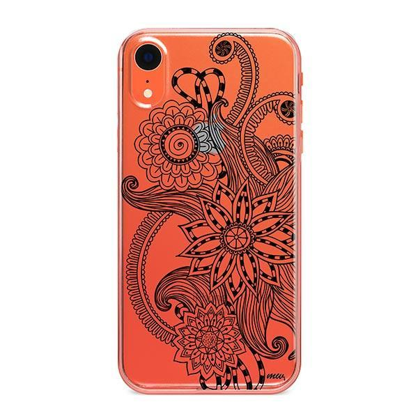 Mehndi Henna iPhone XR Case Clear