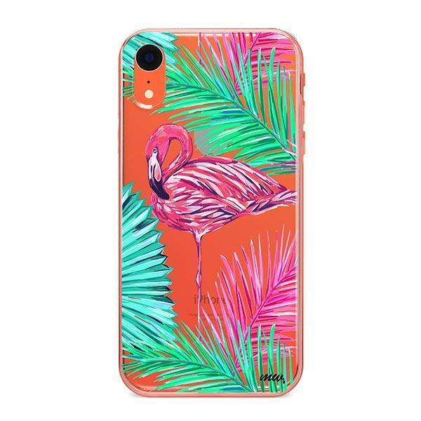 Neon Flamingo - iPhone XR Case Clear