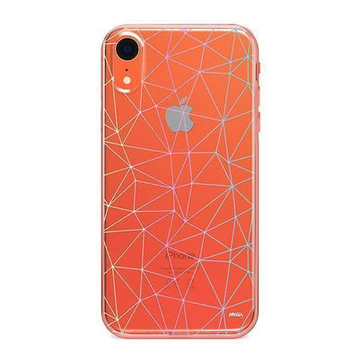 Ombre Geo - Clear TPU - iPhone Case
