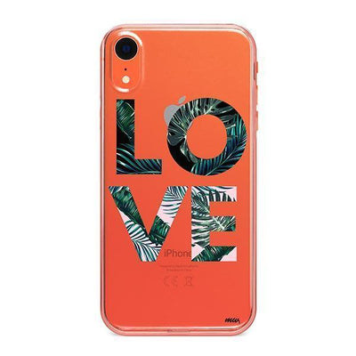Palm Tree Love - iPhone Clear Case