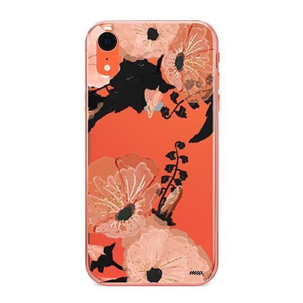 Peachy Floral iPhone XR Case Clear