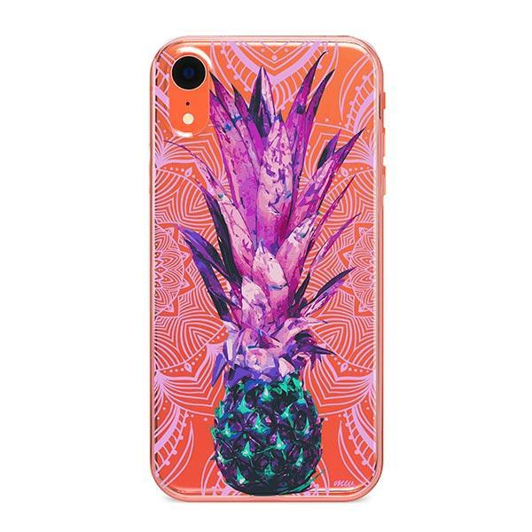 Pineapple Mandala iPhone XR Case Clear