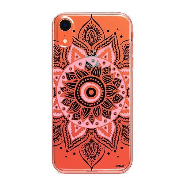 Pink Mandala iPhone XR Case Clear