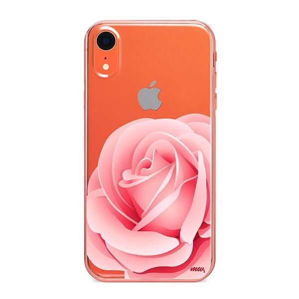 Pink Rose Iphone Xr Case Clear Milkyway