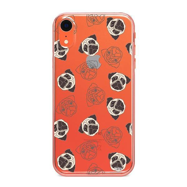 Pug Overload - iPhone XR Clear Case