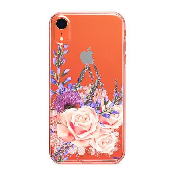 Purple Botanica iPhone XR Case Clear