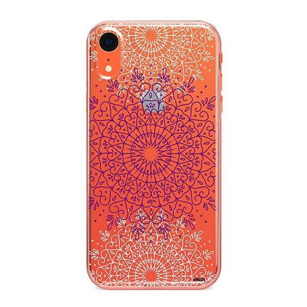Purple Mandala iPhone XR Case Clear