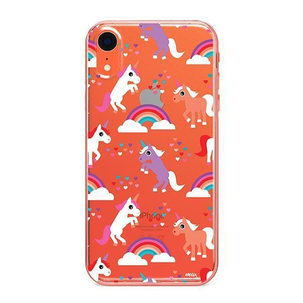 Rainbows and Unicorns iPhone XR Case Clear
