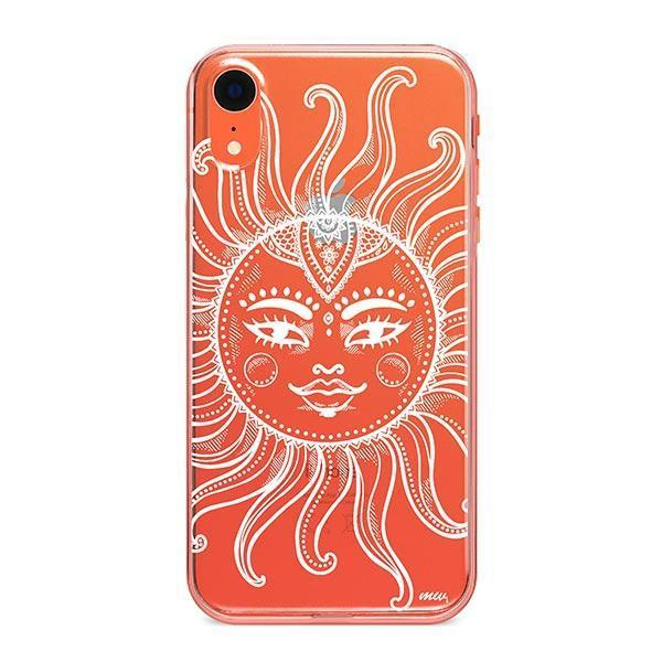 Henna Totemic Sun iPhone XR Case Clear