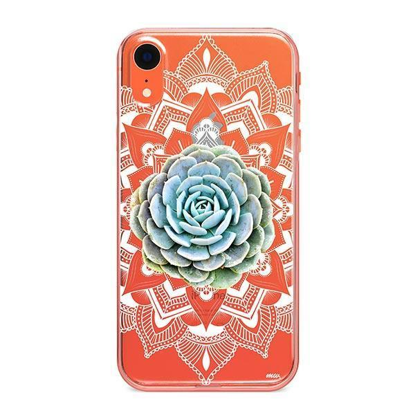 Succulent Mandala iPhone XR Case Clear