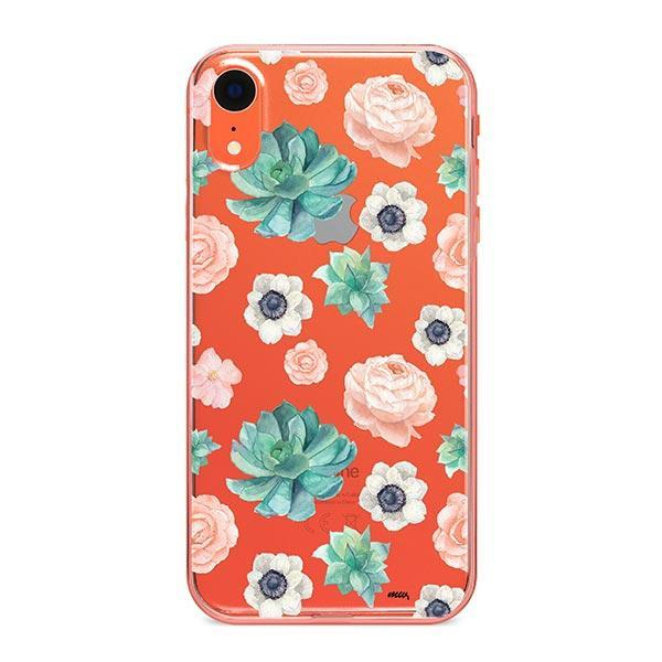 Succulent Overload iPhone XR Case Clear