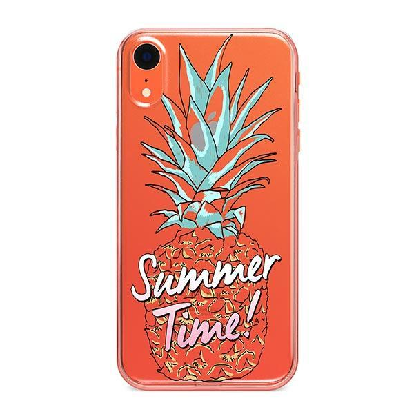 Summertime Pineapple iPhone XR Case Clear