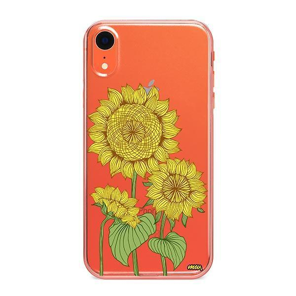 Sunny Sunflower iPhone XR Case Clear