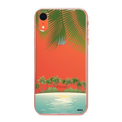 Tropical Beach - Clear TPU - iPhone Case