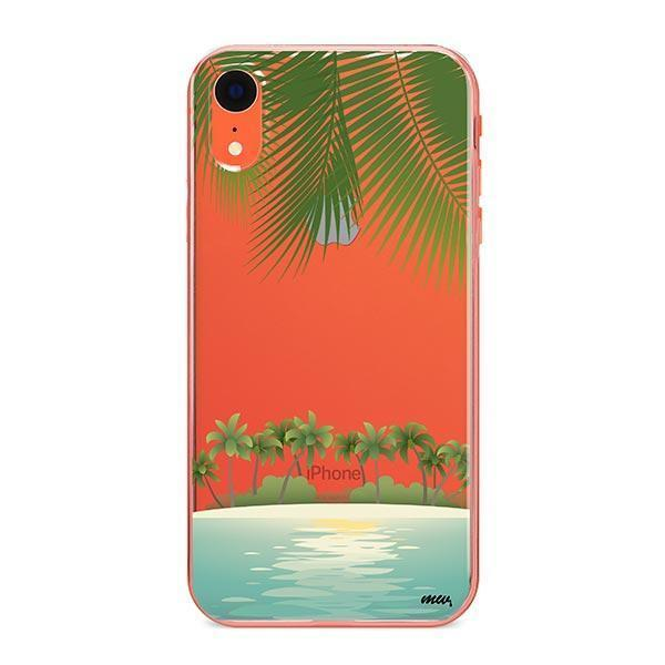 Tropical Beach iPhone XR Case Clear