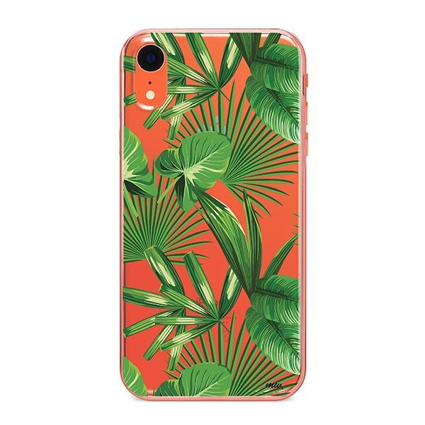 Tropical Palm Leaves iPhone XR Case Clear
