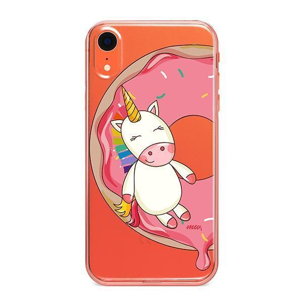 Unicorn Sprinkles iPhone XR Case Clear