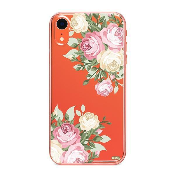 Vintage Roses iPhone XR Case Clear