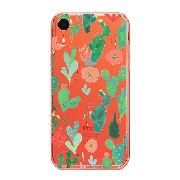 Watercolor Cactus iPhone XR Case Clear