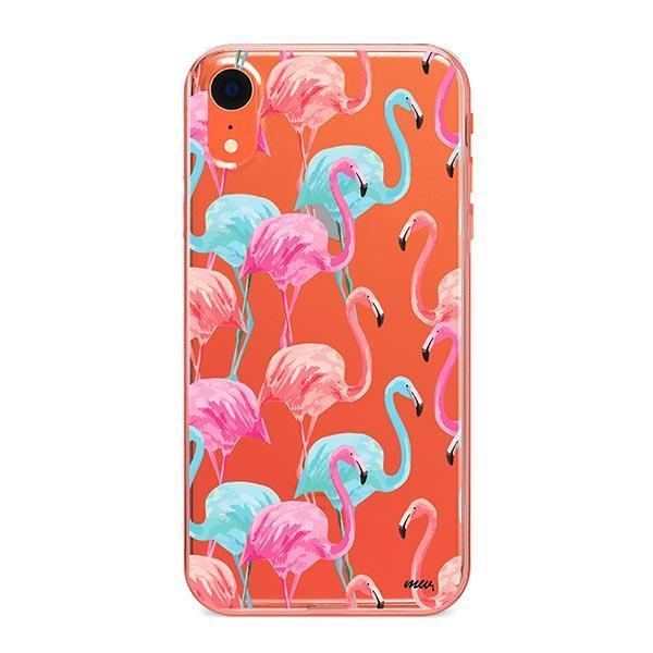 Watercolor Flamingo - iPhone XR Case Clear