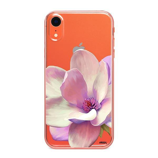 Watercolor Magnolia iPhone XR Case Clear