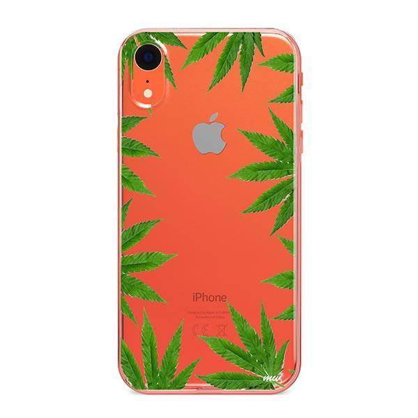 Weed Frame iPhone XR Case Clear